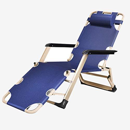 Household Necessities/ligstoel voor senioren pauze lunchpauze stoel tuinstoel Outdoor woonkamer kantoor klapstoel ligstoel draagkracht 150 kg 60*100*118CM grijs.