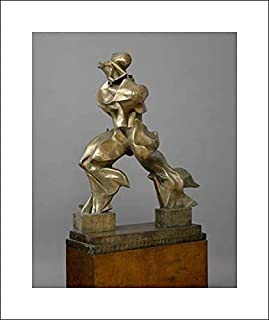 Umberto Boccioni - 16x20 Art Print by Museum Prints - Unique Forms of Continuity in Space