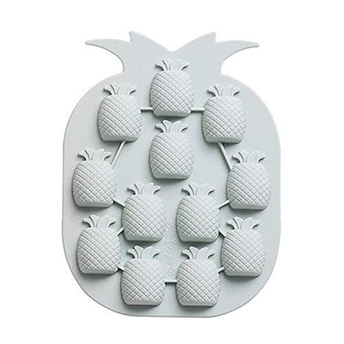 Xincsiwang (2Pcs 12 Pineapple-Shaped Backen Form, DIY Silikon Candy EIS Fach - Blau (2 Teile)