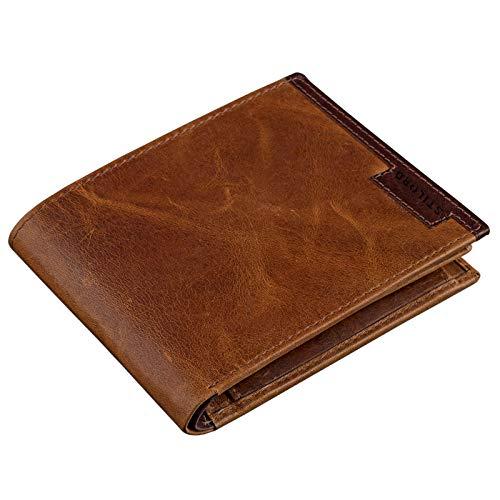 STILORD Vintage Heren Portemonnee Portemonnee van hoge kwaliteit echt leer, bruin, Kleur:cognac - antiek