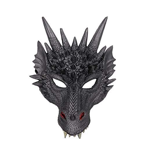 BESTOYARD Drachenmaske Tiergesichtsmaske Dress-up für Erwachsene Halloween Maskerade Cosplay Kostüm Maske
