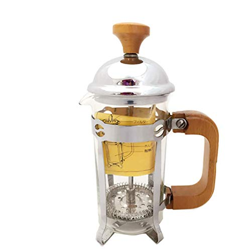 JINHUADAI Pyrex cafetera colador de té con vacío de Acero Inoxidable matraz fácil de Limpiar el Acero Inoxidable Aislamiento térmico té frío café Mango de Acero de Espesor de Acero Anti-escaldadura