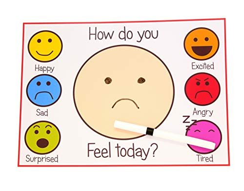kids2learn HOW AM I FEELING TODAY ? - Autism / Non Verbal communication aid for feelings and emotions