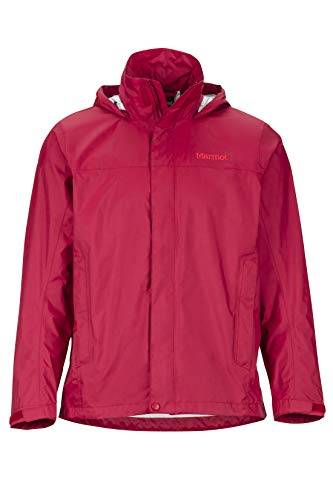 Marmot Men's PreCip Lightweight Waterproof Rain Jacket, Sienna Red, Large