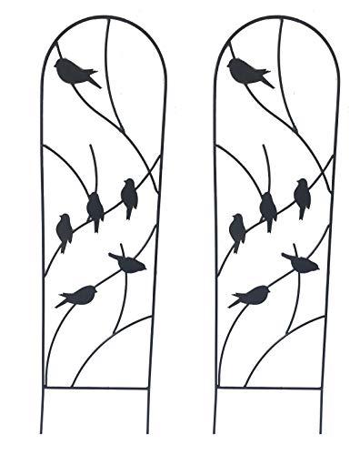 Ruddings Wood Set of 2 x Bird Design Garden Trellises - Garden Trellis Climbing Plant Support Frames
