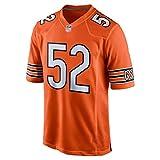 Chemise d'équipe personnalisée, T-Shirt Chicago Bears, Sweat-Shirt, Manches Courtes Bricolage, adapté au Football, Football, extérieur-Orange-M