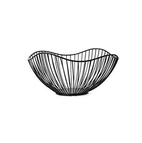 Frutas Cesta de frutas Soporte de tazón de fruta para contador de alambre de metal Fruit Cesta Moda Creativo grande Malla de hierro tejido Fruit Basket Fruit Bowl Office Home Table Arte Disply Bandeja