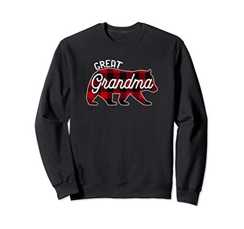 small Great Grandmother Bear Family Check Red Buffalo Sweatshirt