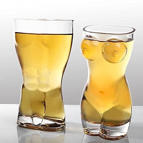 Copa creativa de cristal con forma de cuerpo, copa de whisky, copa de vino, copa de copa sexy para mujer, para el pecho, para vodka whisky cerveza (color para mujeres)