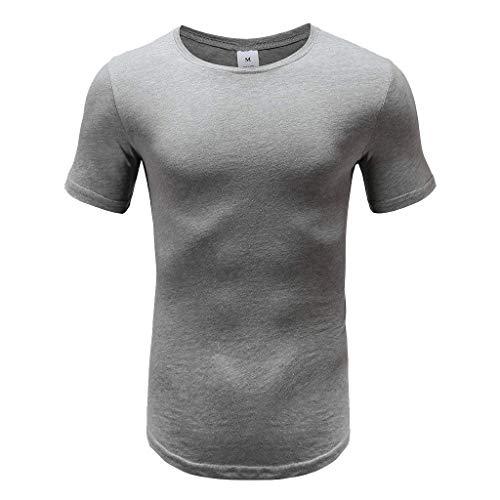 Uhdfjsjd Men's T Shirt Men's Tight-Fitting Bodybuilding Fitness Casual Exercise Running Elastic T-Shirt