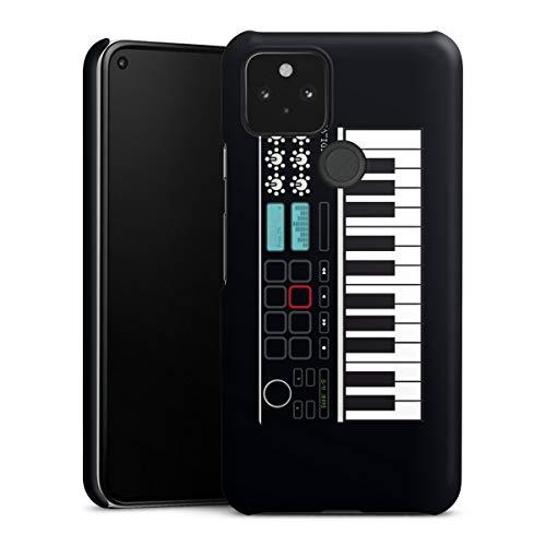 Premium Case kompatibel mit Google Pixel 5 Smartphone Handyhülle Hülle matt Klavier Musik cn Designs