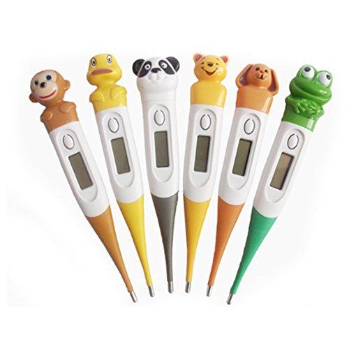 Termometro digitale per bambini - Per bambini - Bambini Adulti - Modalità Celsius con display LCD - Rettale per via orale e ascellare Misurazione della temperatura corporea Colore casuale