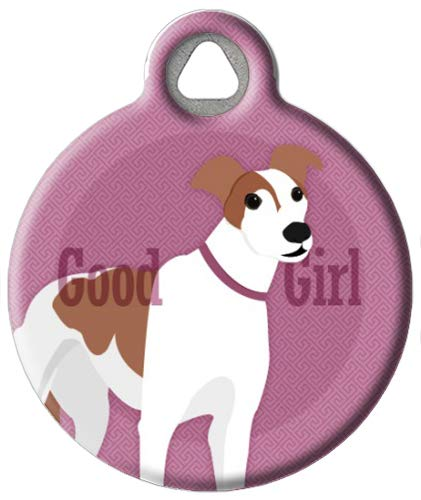 Dog Tag Art Good Girl Greyhound - Custom Pet ID Tag for Dogs and Cats Small Size