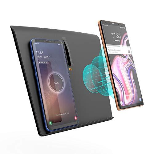 TapTes 15W Tesla Model 3 Wireless-Ladegerät [2020 Neueste], Dual Wireless Phone Schnellladepad Matte Model 3 Zubehör für iPhone Samsung LG Qi-fähige Telefone-kompatibel Alle Tesla Model 3