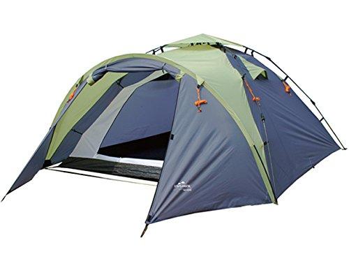 EXPLORER Flash 3 Automatikzelt Doppeldachzelt ** in Sekunden aufgebaut - Schirm Prinzip! ** integriertes Gestänge 220/310x220x120cm(Innenzelt:200x200x120cm) 3 Personen 3000mm Wassersäule Zelt Schirm Camping Outdoor Wandern Familie