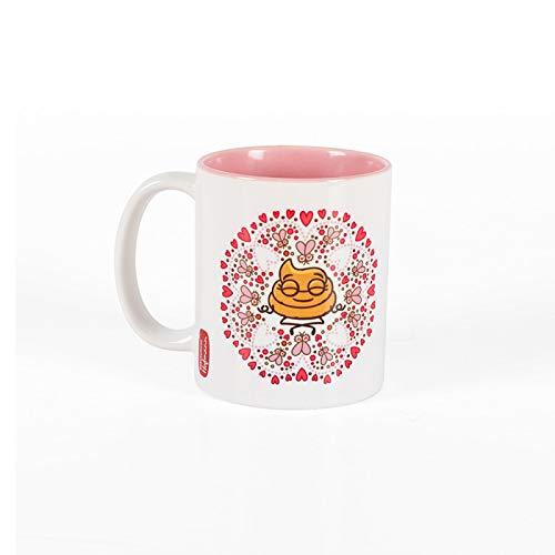 Hofmann | Taza de desayuno Kukuxumusu - Resistente al microondas y lavavajillas | Rosa