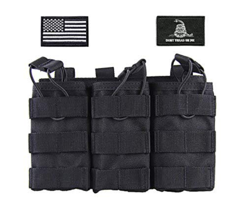 Tactical Military MOLLE Triple Open-Top Mag Magazine Holster Pouch Pistol Rifle Shotgun Mag Magazine Organizer Pouch M4 M16 AK AR HK416 Magazines Pouch for Hunting CS Shooting Training Veteran -  Antrix