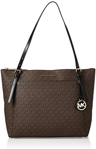 Michael Kors Voyager Ladies Large Two Tone Canvas Tote Bag 30F9GV6T9B 292 product image