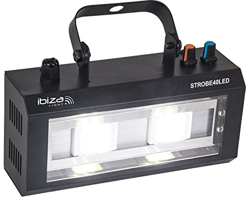 Ibiza Light & Sound STROBE40LED LED Strobe mit 2x 20W