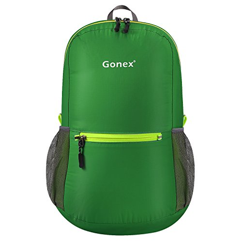 Gonex Ultra Lightweight Packable Backpack Daypack Handy Foldable Camping Outdoor Travel Cycling Backpacking(Dark Green)