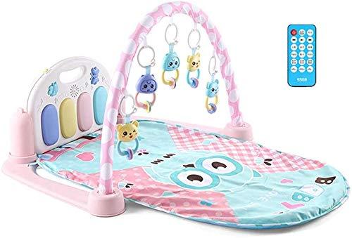 Toy pad Baby speelmat Baby Gym En Evenementenlocatie met muziek en Play Piano Fitness Center, geschikt for peuters, babys, pasgeboren Toys gemakkelijk schoon te maken (Kleur: Multi-gekleurde, Size: 83