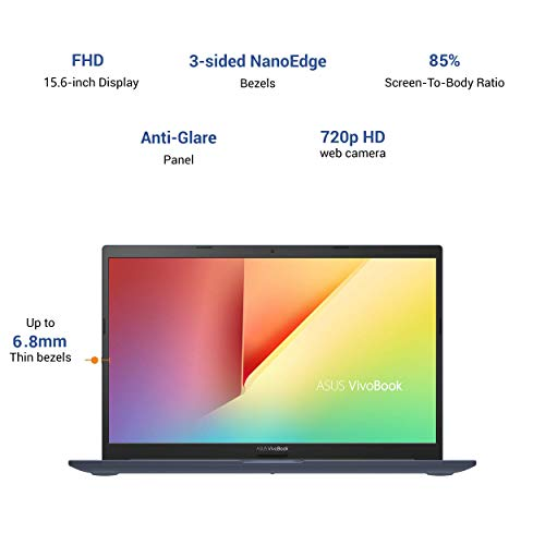 ASUS VivoBook Ultra 15 (2020) Intel Core i3-1115G4 11th Gen 15.6-inch FHD Thin and Light Laptop (8GB/256GB NVMe SSD/Integrated Graphics/Windows 10/MS Office 2019/Cobalt Blue/1.8 kg), X513EA-EJ331TS