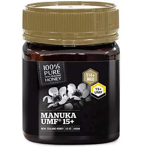 100% Pure New Zealand Manuka Honey, Certified UMF 15+ (MGO 514+) Raw Manuka Honey, 8.8 Ounce (250g) (Pack of 1)