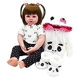 iCradle Reborn poupée 18inch Reborn bébé poupée en Silicone Souple poupée Fille Souriante avec Lapin châle Enfant Cadeau (18Inch)