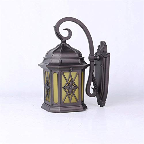 Lámpara de Pared Para Exteriores Wall impermeable al aire libre de la lámpara, creativo artesanales de metal Lámpara de jardín, Villa exterior lámpara de pared, Terraza Balcón de iluminación de la lám