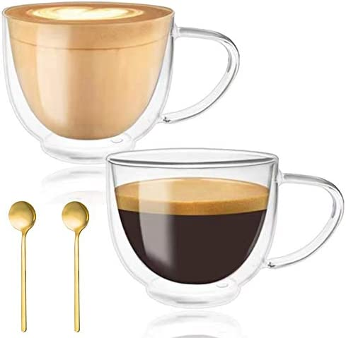 Double Walled Glass Coffee Mugs Espresso Cups Drinking Glasses for Coffee Tea Insulated Glass product image