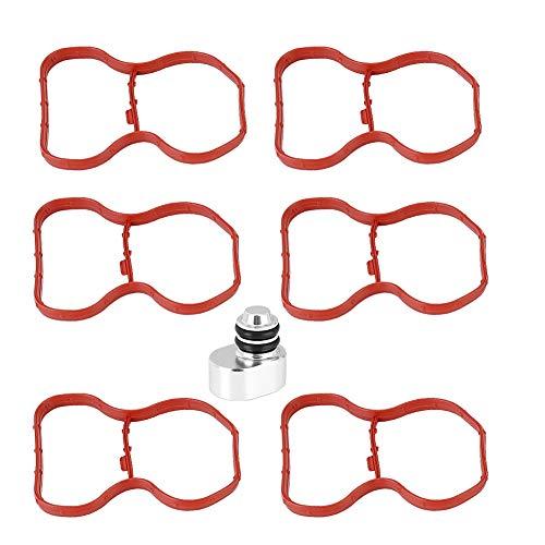 Preisvergleich Produktbild Akozon Drallklappenstopfen Löschsatz Gummi für N57 N57S E90 E91 E92 E93 F07 F10 F11