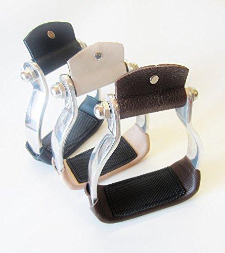 PS Pferdeartikel Leichter Aluminium Westernbügel in braun, schwarz oder Natur Farbe braun