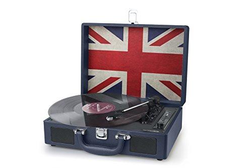 Muse koffer-platenspeler met directe coding (2 ingebouwde luidsprekers, halfautomatisch, riemaandrijving, autostop, AUX-in, USB, RCA) UK