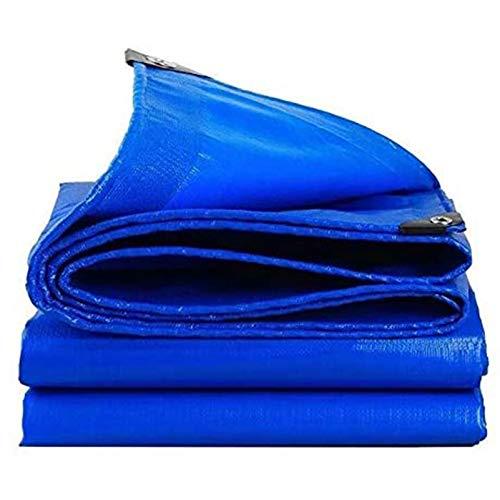 QIAOH Lona De Protección Exterior con Ojales 4X4m, Lona Impermeable Exterior con Ojales, Lona De Plástico Impermeable, Lona Acampar Al Aire Libre