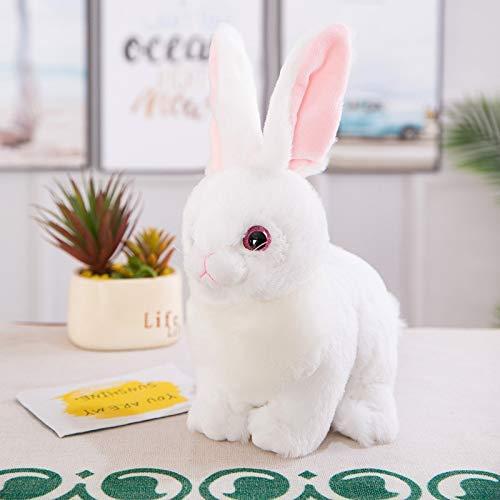 Langhaarige Simulation Kaninchen-Plüsch-Spielzeug-Puppe Liegen Kaninchen Kissen Kinder Geschenk Exquisite Dekoration 25...