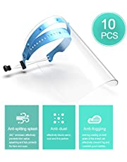 Shield Decdeal 10pcs PPE Disposable Safety Face Shield id Resistant Full Face Mask Transparent Face Shield Prevent Splash and Splatter