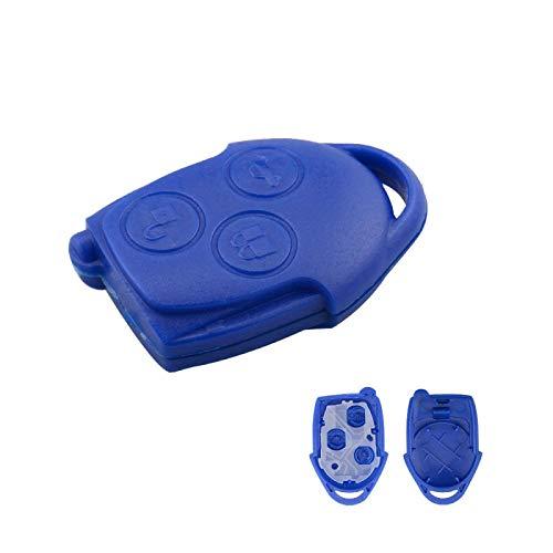 für Ford Transit Connect Set Auto Auto Schlüsselschale Ersatz Abdeckung Fall Fob Blue Head 3-Taste für Ford Key...