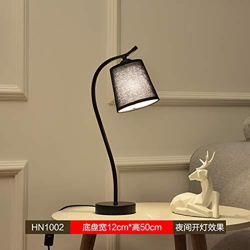 Agorl Simple moderne maison salon créatif nordique étude chambre lampes de chevet, chocolat HN1002 + lumière chaude, variateur de lumière