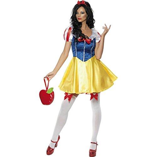 NET TOYS Disfraz Sexy de Blancanieves Cuento Hadas Princesa Carnaval Mujer