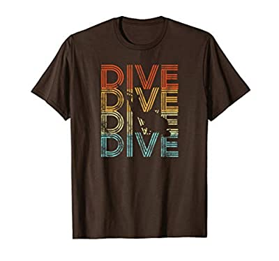 Dive Retro Look T-Shirt I Scuba Diver Underwater Idea