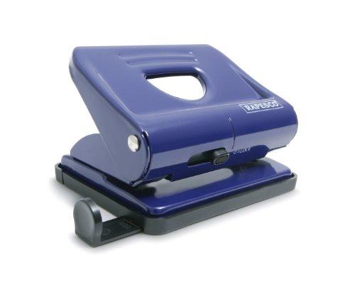 Rapesco PF820ML1 820 - Perforadora Metálica de 2 Agujeros, Capacidad de 22 Hojas, Azul