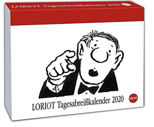 Loriot Tagesabreißkalender. Tischkalender 2020. Tageskalendarium. Blockkalender. Format 11 x 14 cm