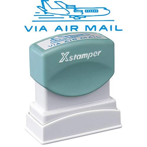 シャチハタ スタンプ ビジネス用 B型 XBN-13433 印面13×42ミリ VIA AIR MAIL 藍