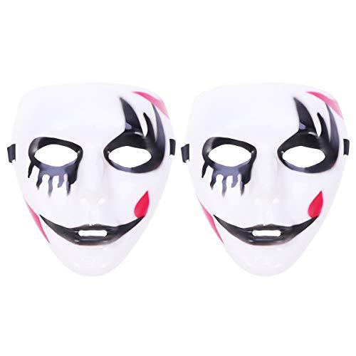 Máscara de dança de festa da morte KesYOO com 2 peças, máscara de festa de Halloween, cosplay e acessório de fantasia