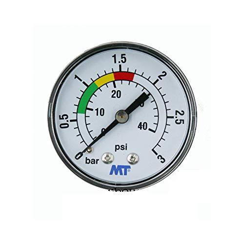jardiboutique Manomètre MT pour Filtre Piscine Fixation arrière raccord axial Manomètre Filetage 1/4\