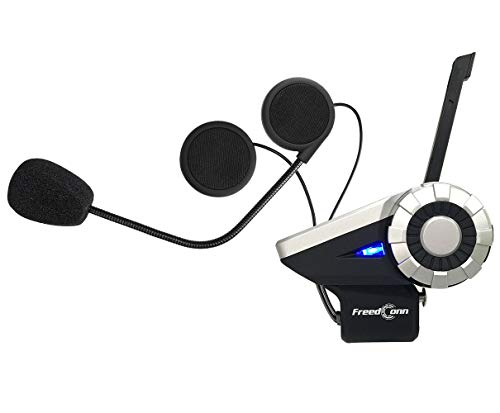 FreedConn Auriculares Intercomunicador Moto Bluetooth en Conferencia de 8 vias y a 1500m