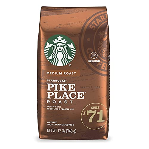 Starbucks Pike Place Roast Ground Coffee, 12 Ounce (Pack of 2)