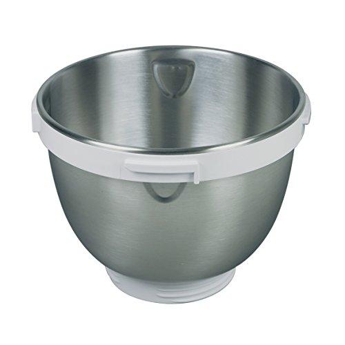 Unold 7852501 ORIGINAL Rührschüssel Schüssel Edelstahl 4 Liter Volumen silber weiß Chef 78525 Küchenmaschine