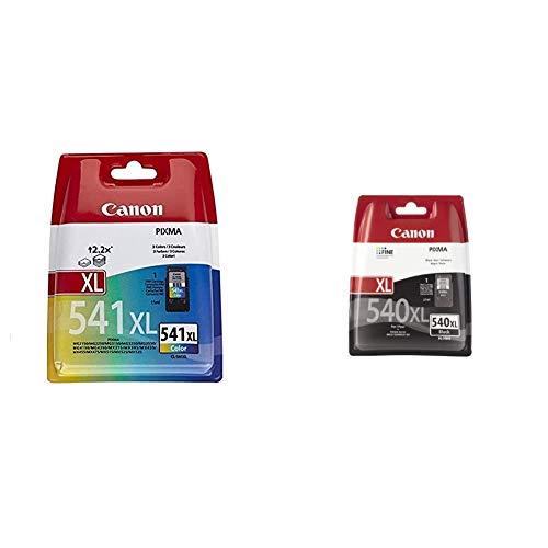 Canon CL-541XL Farb Druckertinte C/M/Y - hohe Reichweite - 15 ml für PIXMA Drucker ORIGINAL & PG-540 XL Druckertinte Schwarz - hohe Reichweite - 21 ml für PIXMA Tintenstrahldrucker ORIGINAL