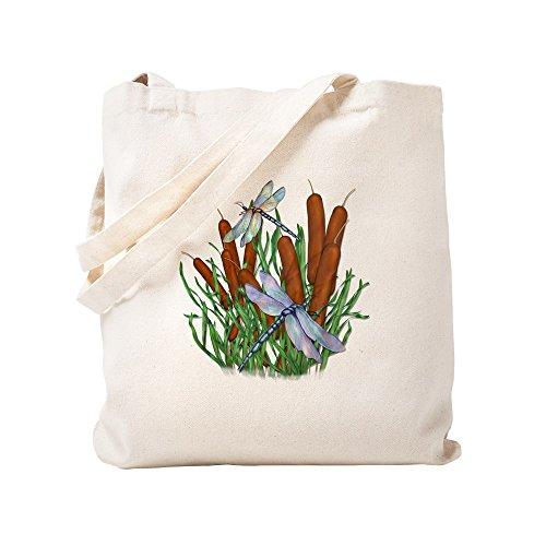 CafePress-Libelle & Cattails Tasche-Leinwand Natur Tasche, Reinigungstuch Einkaufstasche Tote S khaki